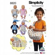 "8820 Simplicity Pattern: Clothes for 15"" Doll"